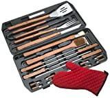 Charcoal Companion 19-Piece Stainless-Steel Barbecue Set with Bonus Grill Mitt