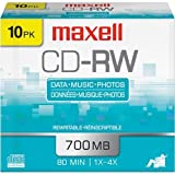 MAXELL CD-RW74: CD Rewritable 10-Pack
