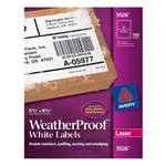 Avery(R) Weatherproof Laser Labels, Half Sheet, 5 1/2in. x 8 1/2in., White, Box Of 100