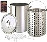 Eastman Outdoors 36-Quart Crab and Lobster Pot with Steamer Rack