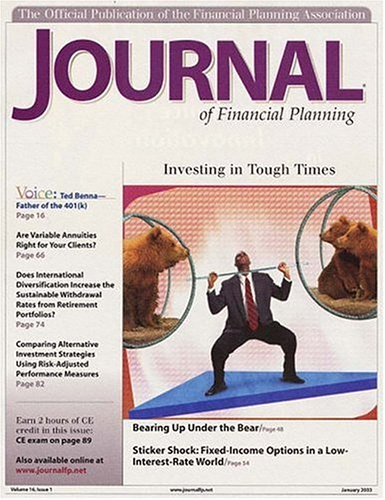 Journal Of Financial Planning [MAGAZINE]