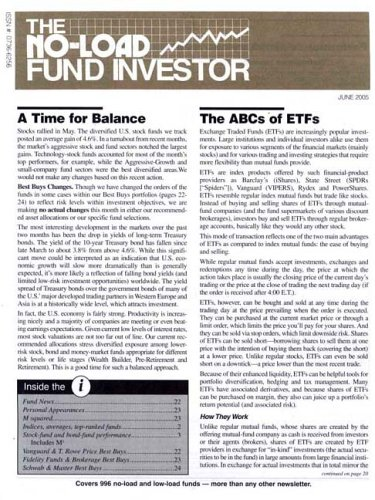 No Load Fund Investor Newsletter [MAGAZINE SUBSCRIPTION]