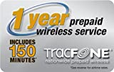TracFone Prepaid Airtime Card, 1 year/150 Minutes for Tracfone Phones