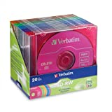20PK CD-RW 80MIN 700MB 2X-4X Datalife+ Colorpk Brand with slim Case