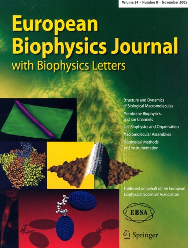 European Biophysics Journal With Biophysics Letters