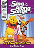 Disney's Sing Along Songs - Sing a Song With Pooh Bear and Piglet Too - movie DVD cover picture