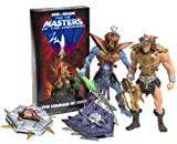 Masters of the Universe: Wolf Aromor He-Man and Snake Armor Skeletor with VHS Cassette Tape