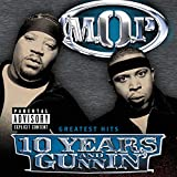 Skivomslag för 10 Years and Gunnin' (Greatest Hits)
