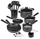Sabatier Anodized Aluminum Nonstick 24-Piece Cookware and Tools Set
