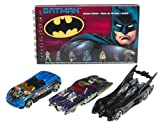 Hot Wheels Batman 3 Car Pack with Book