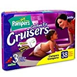 Pampers Cruisers, Size 3, Jumbo Pack, 38 Count