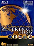 4 reference pieces: Webster's Millennium CD-ROM Encyclopedia, New World Atlas, Unabridged Dictionary, and Earth 3D