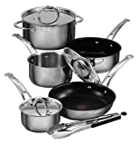 Jamie Oliver's Professional Series by T-Fal 9-Piece Cookware Set with Nonstick Saute Pans