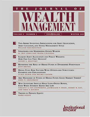 Journal of Wealth Management [MAGAZINE]