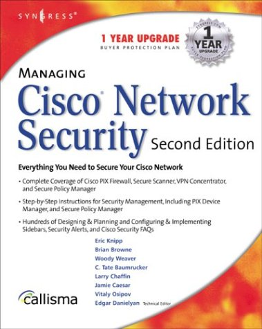 Book Cover: Managing Cisco Network Security, Second Edition