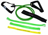 SPRI ES510R Xertube and Xercise Bands Kit with Green Xertube and Three Xercise Bands