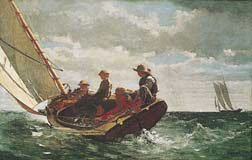 Breezing Up, Art Poster by Winslow Homer