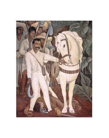 Agrarian Leader Zapata, Art Poster by Diego Rivera