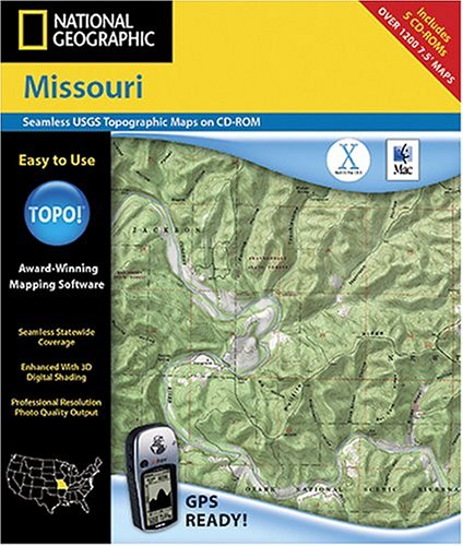 topographic maps of missouri. National Geographic TOPO Map (