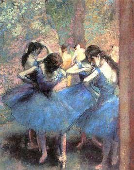 Blue Dancers, Art Poster by 
