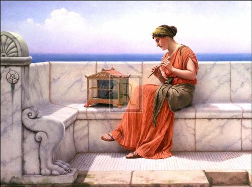 Song Without Words, Art Poster by John William Godward
