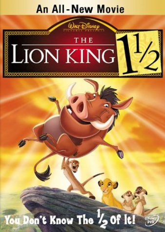 The Lion King 1 1/2 (2004)  DVD;