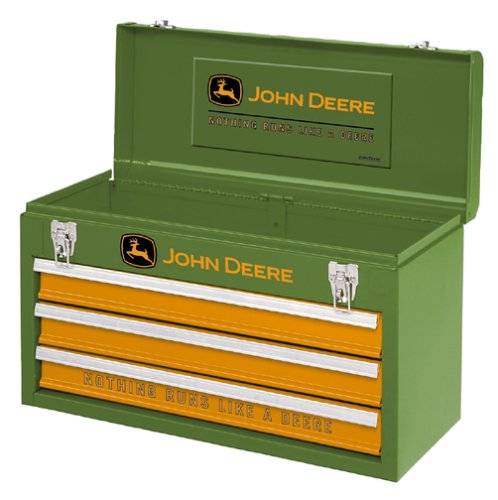 Waterloo Industries PCHDEERE John Deere 3-Drawer Portable Tool Chest.