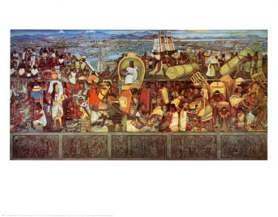 The Great City of Tenochtilan, Fine-Art Print by Diego Rivera, 28x22 ></a>
