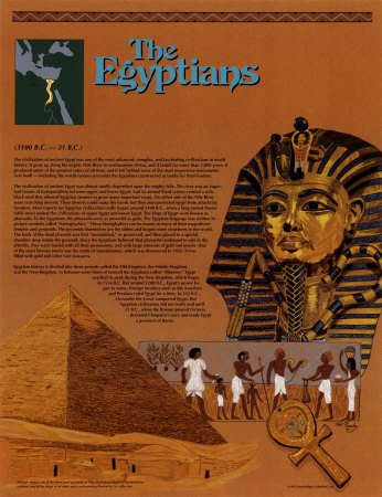 Ancient Civilizations - The Egyptians, Wall Poster, 17x22