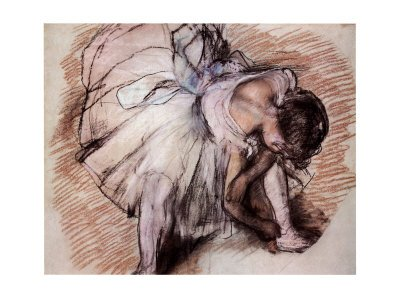 A Dancer Adjusting her Shoe, 