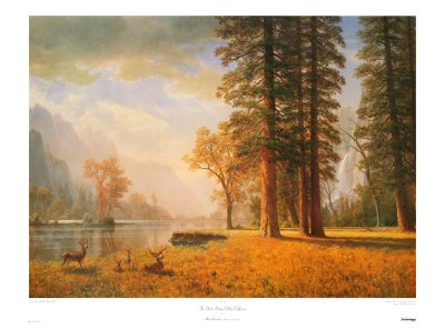 The Hetch Hetchy Valley , CA, Fine-Art Print by Albert Bierstadt, 38x28 Other products by Art.com