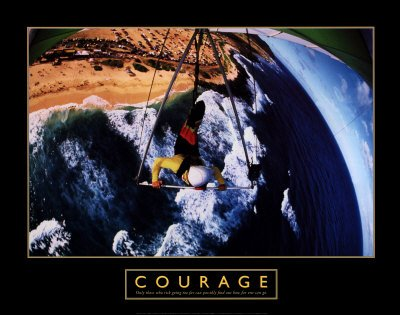 Courage - Hang Glider, Fine-Art Print by Unknown, 28x22
