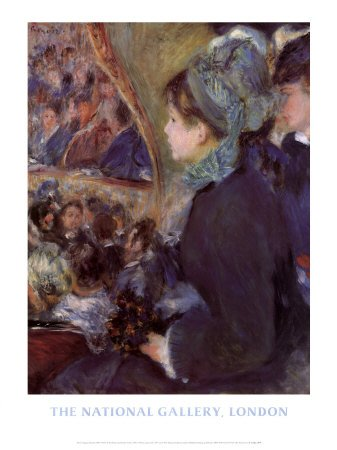 At the Theatre, Fine-Art Print by   Pierre-Auguste Renoir, 24x32