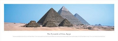 Pyramids of Giza, Egypt, Fine-Art Print by James Blakeway, 40x13.5