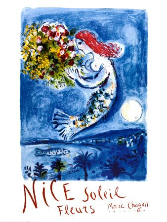 Nice, Soleil, France, Fine-Art Print by Marc Chagall, 23.5x31.5