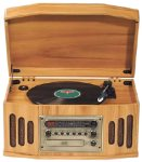Classic CSL1 Nostalgia Console 2-Speed Turntable with CD Player / Cassette Deck (Natural Oak)