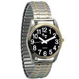 Mens Rolex Style Watch, Low Vision w/Exp Band