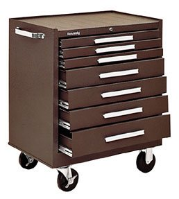 Kennedy 00071 #297 Roller Cabinet 7 Drawer Brown 158 Lbs.