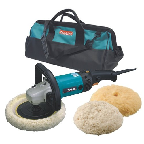 "Makita 9227CX3 7"" Electronic Sander-Polisher with Tool Bag, Compound and Polishing Pads."