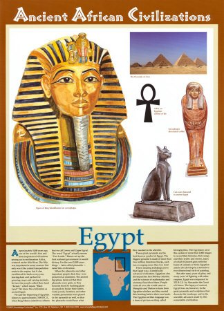 Ancient African Civilizations - Egypt, Wall Poster, 18x25