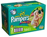 Pampers Baby-Dry Diapers, Size 3, Value Pack, 144 Diapers