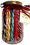 old fashion candy sticks, assorted in gift jar