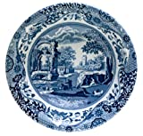 Spode Blue Italian Earthenware 8-1/4-Inch Ascot Cereal Bowl - Blue and White