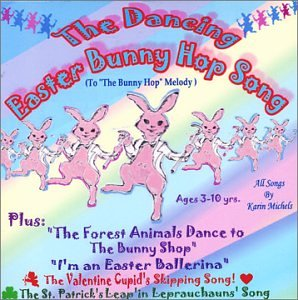 Original album cover of The Dancing Easter Bunny Hop Song by Karin Michels