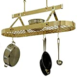 4 Foot Oval With Grid , Premier Ceiling Rack - Brass