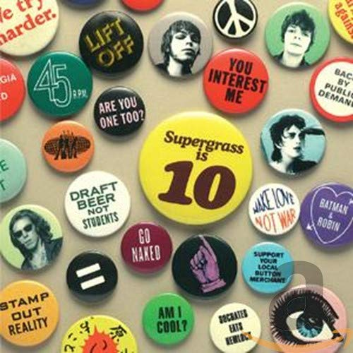 Copertina di album per Supergrass Is 10: Best of 94-04