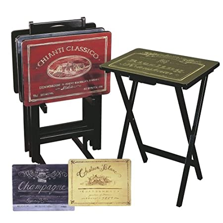 Wine Label Tv Trays