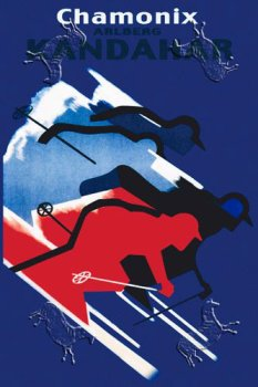 Chamonix, Art Poster by Cromieres