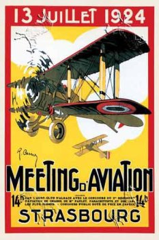 Meeting d'Aviation Strasbourg, Art Poster by R. Carrie