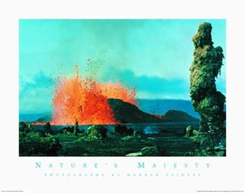 Nature's Majesty - Lava, Art Poster by Warren Faidley